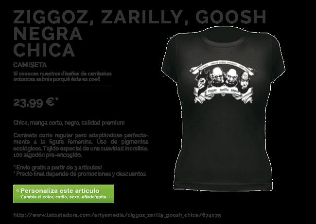 Camiseta Ziggoz, Zarilly, Goosh Chica