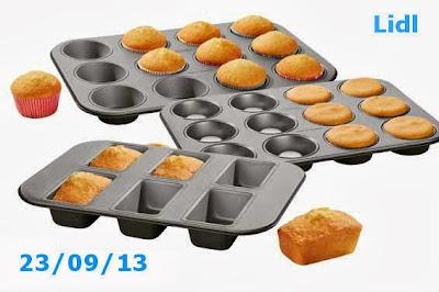 Moldes de madalenas cupcakes y plumckes del Lidl
