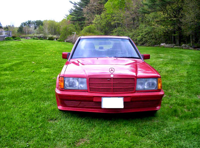 mercedes 190e amg red