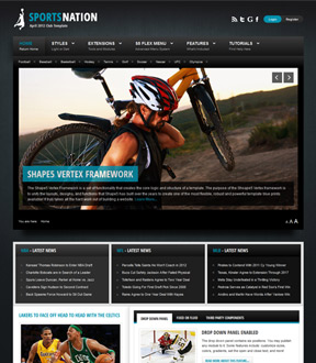 Sports Nation Joomla Template Free Download by Shape 5.