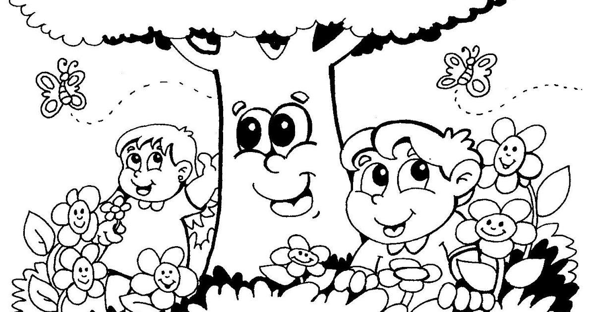 desenhos da primavera para colorir plantão blog
