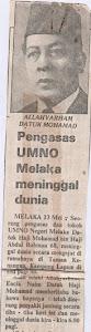 Datuk Hj Mohd dalam kenangan