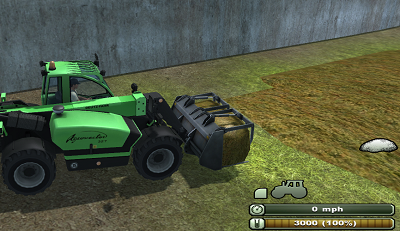Loading silage to front loader