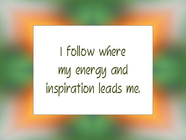 INSPIRATION affirmation