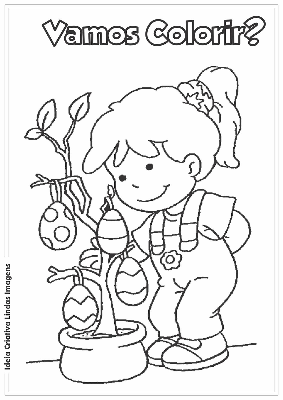 Desenho para colorir - Páscoa Comercial