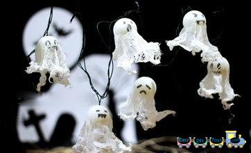 ping-pong balls Handmade Halloween ghosts 1