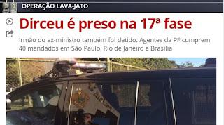 """Zé Dirceu do PT é preso na 17ª fase da opertação """"Lava Jato"""": Acompanhe a repercussão"""