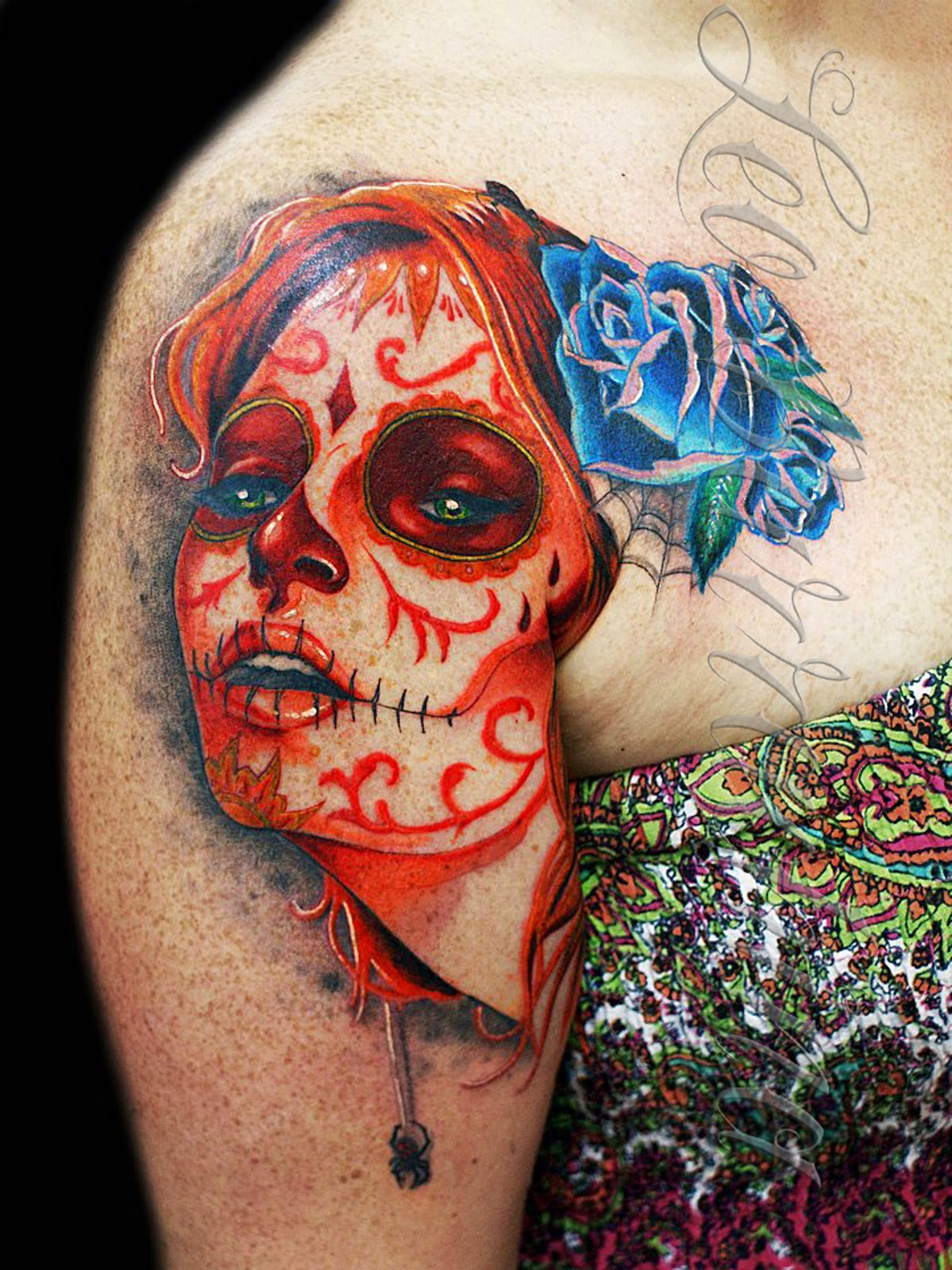 Gorgeous Catrina Tattoos Design