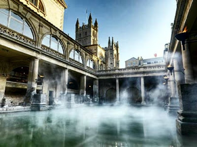 Steamy Roman Baths, Bath. Will the steam be inflammable with the nearby fracking?