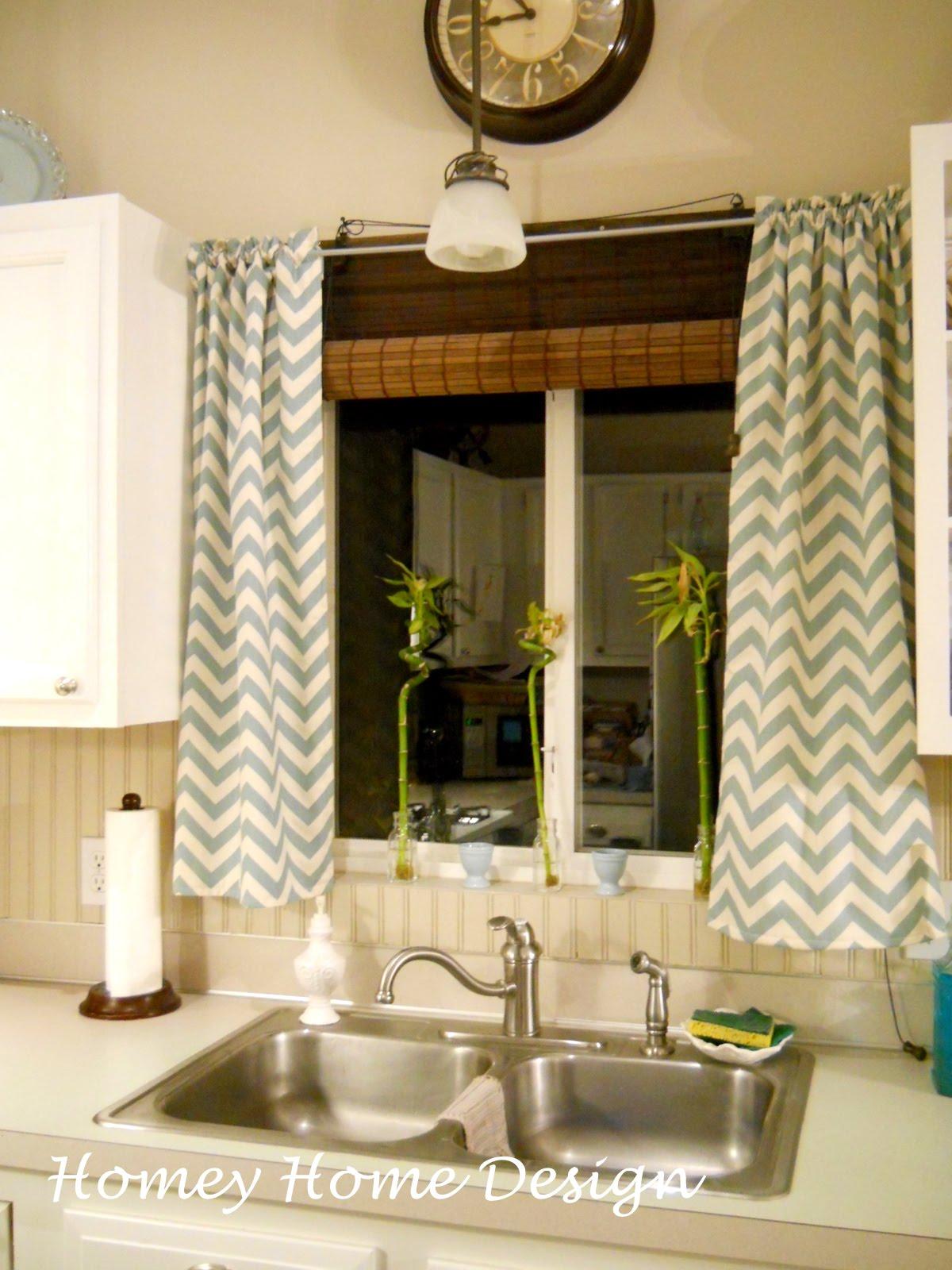 Yellow chevron kitchen curtains - Simple Chevron Curtains
