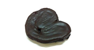 Palmeritas de hojaldre bañadas en chocolate