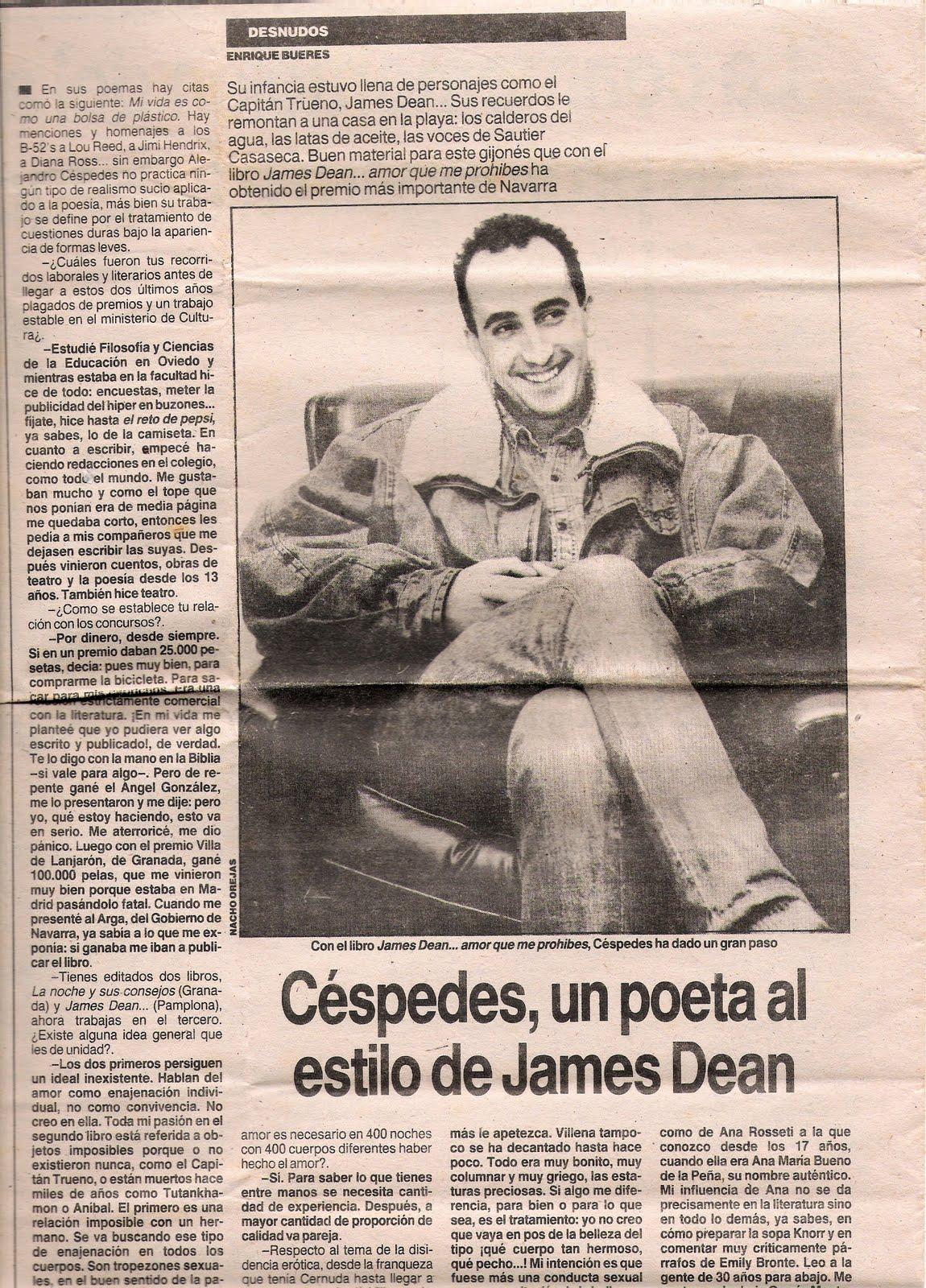 Enrique Bueres; La Voz de Asturias, entrevista.