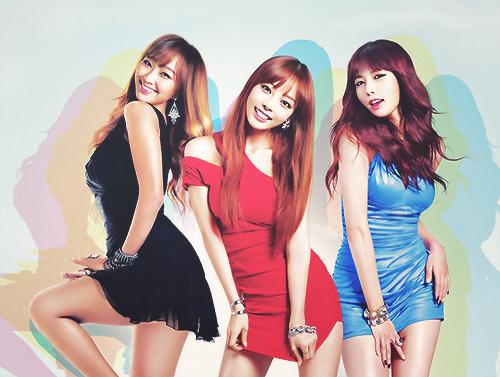 Sistar's Hyorin, Kara's Goo Hara and 4minute's HyunA twerk it for Chum Churum soju.