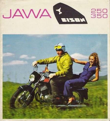 """Reklama Jawa """"Bison"""" 250 i 350"""