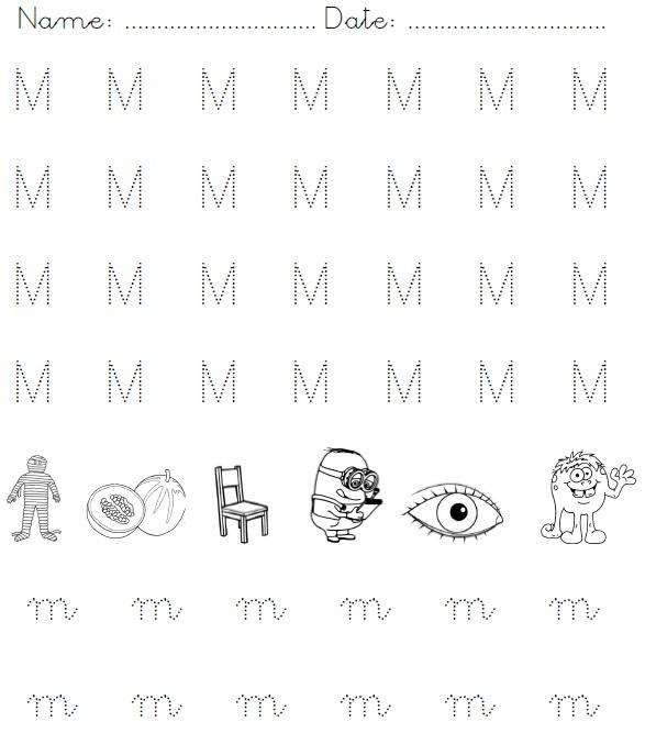 Free Worksheets » Letter M Tracing Worksheets - Free Printable ...