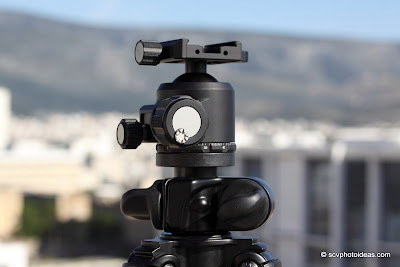 Sunwayfoto XB-44 ball head on Benro A-296EX tripod sun