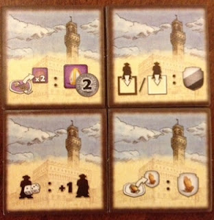 different bonus tiles from the board game Il Vecchio