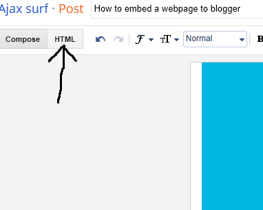 embed a webpage to blogger