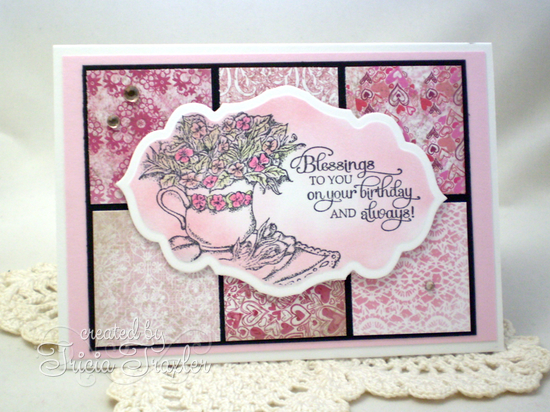 Stamps - Our Daily Bread Designs Birthday Blessings, ODBD Heart and Soul Paper Collection, ODBD Custom Antique Labels and Border Dies
