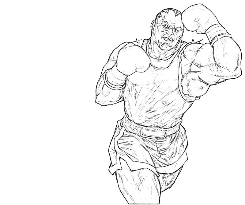 nintendo characters coloring pages - balrog character nintendo wee
