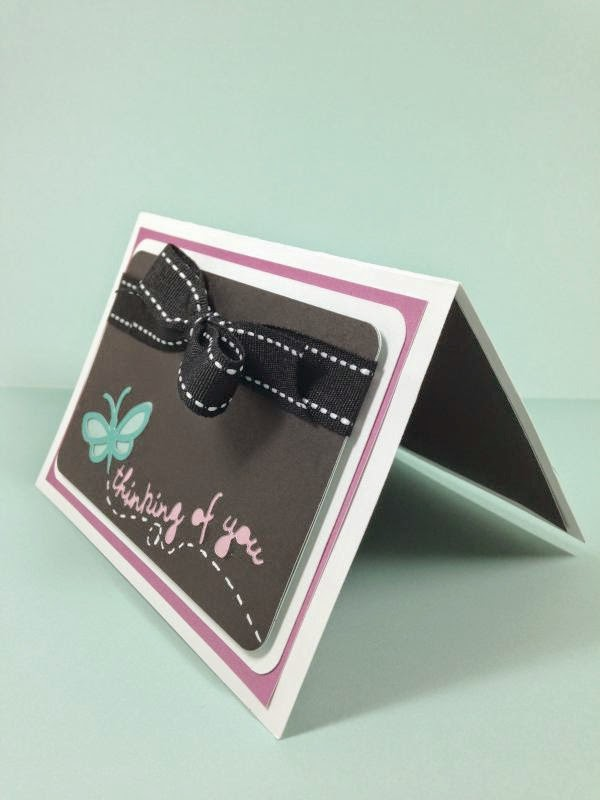 Close To My Heart Artfully Sent Butterfly Pop-up card sideview