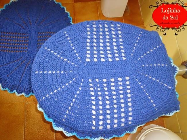Artesanato Lojinha da Sol Jogo de banheiro oval de crochê, finalizado e enviado -> Jogo De Banheiro Simples Oval Passo A Passo