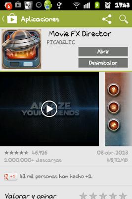 Captura de pantalla del Play Store donde vemos la app del Viernes 19 de Abril.