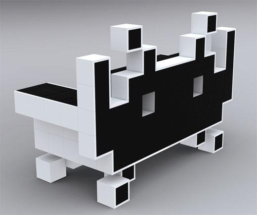 retro games brasil m veis de pixel. Black Bedroom Furniture Sets. Home Design Ideas