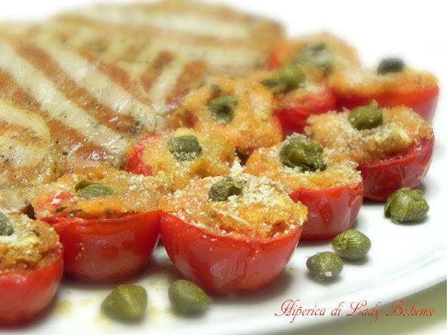 hiperica_lady_boheme_blog_di_cucina_ricette_gustose_facili_veloci_pomodorini_gratinati_al_forno_2