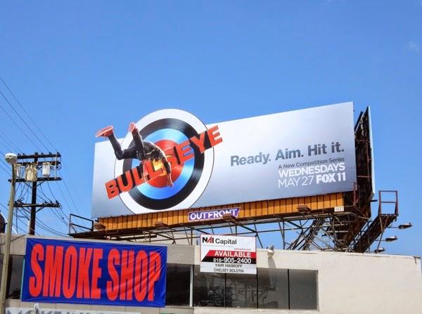 Bullseye series premiere billboard