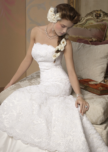 White is the number one color of bridal gowns with the western cultures