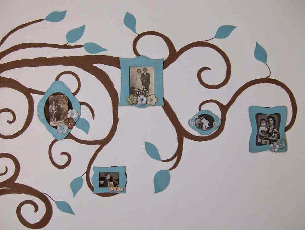 Carta e sassi home decor dipingere sulle pareti - Albero su parete ...