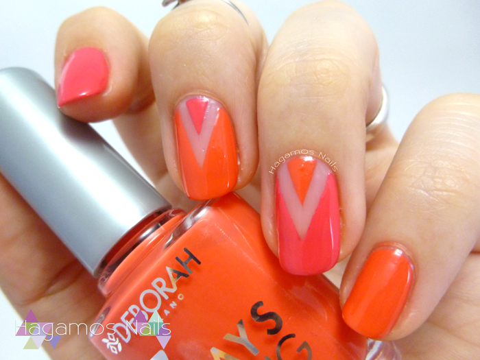Nail Art Negative Space Chevron. Hagamos Nails