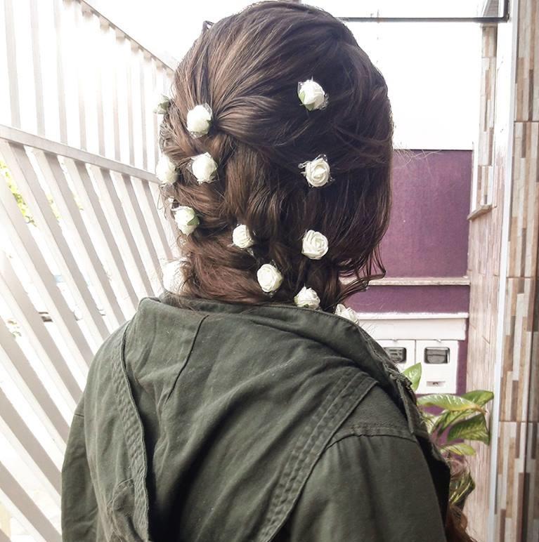 Casei: Meu penteado