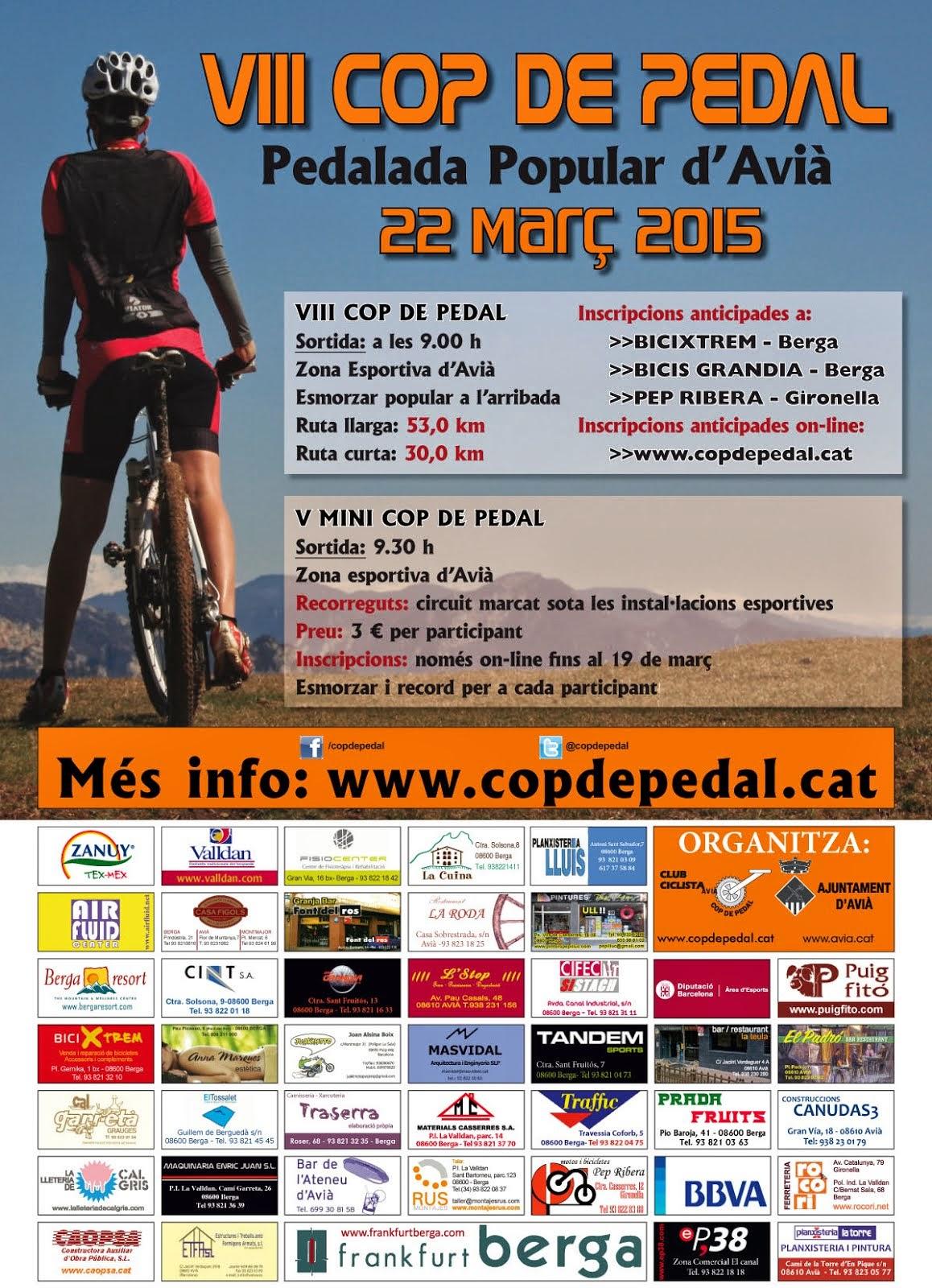 El cartell de les pedalades 2015
