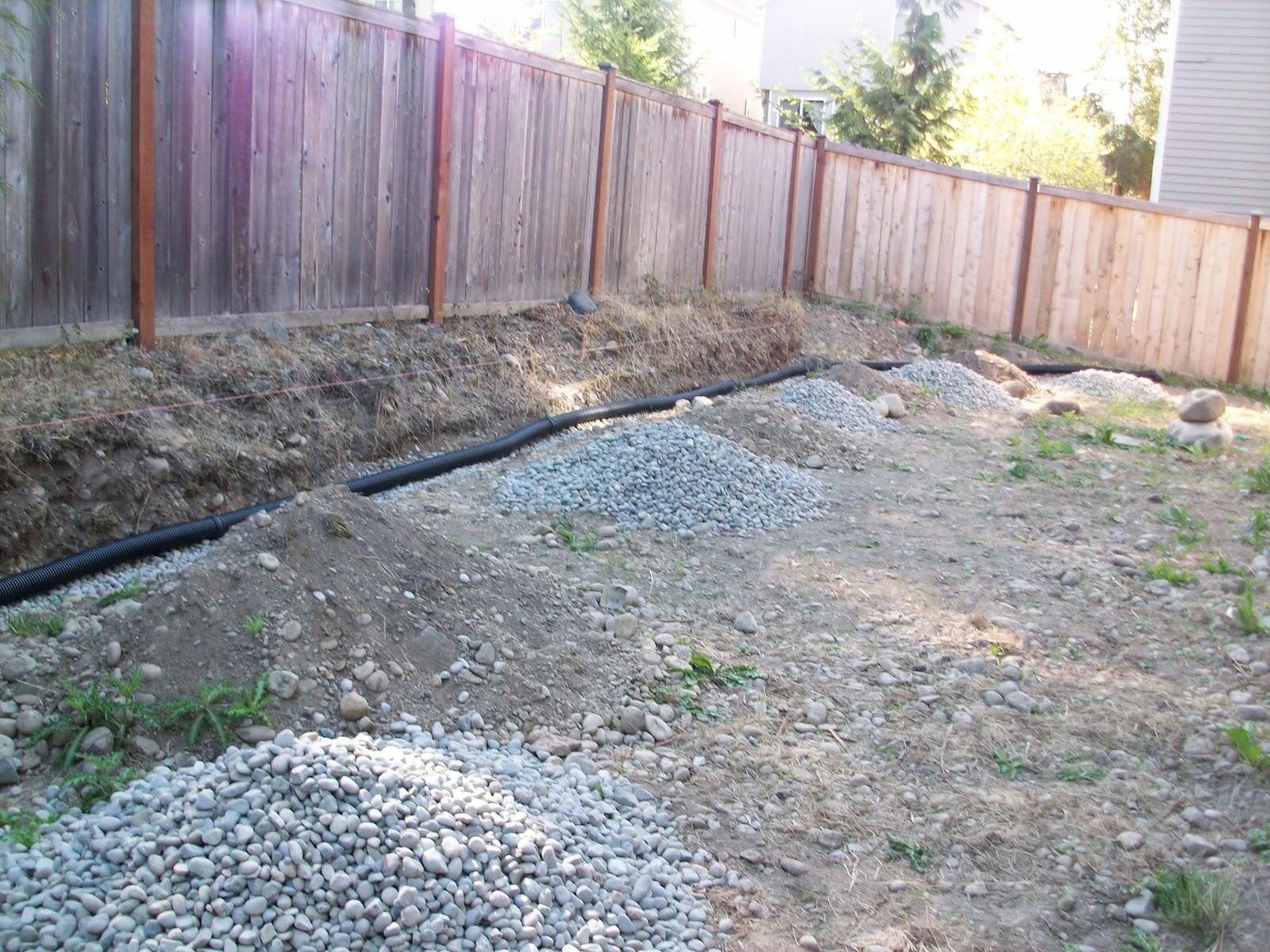 stanley pie backyard progress retaining wall