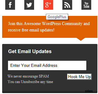 Thesis Style Email Subscription Widget for Blogger