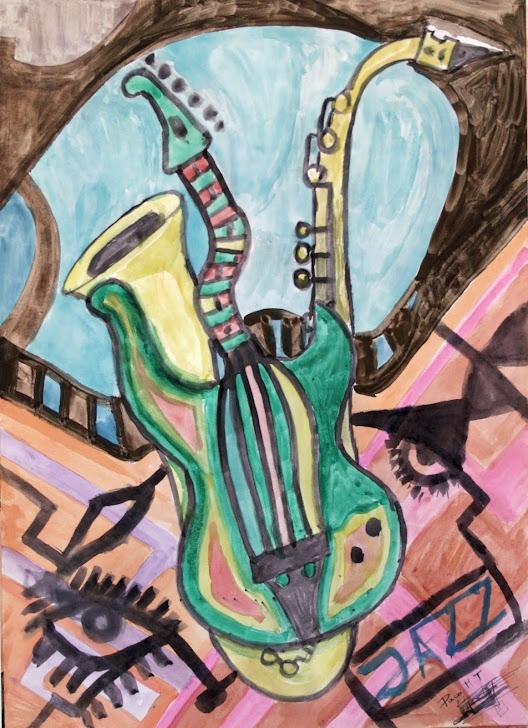 Guitarra y saxo 9-9-90