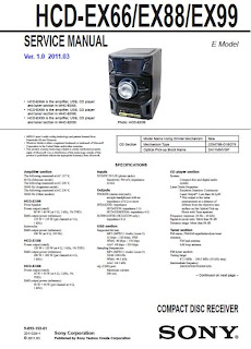 Diagrama Sony Genezi HCD-EX66 EX88 EX99