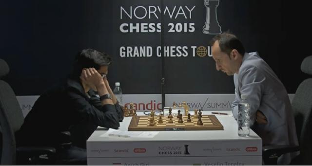 Norway Chess 2015. Anish Giri - Veselin Topalov