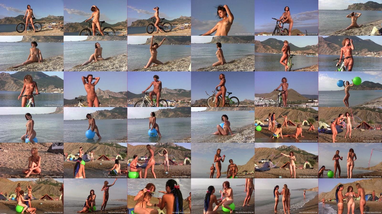 Нудисты на пляже 2 / Nature-Girls, part-2.