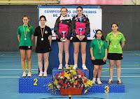 Podio juvenil dobles femeninos 2013