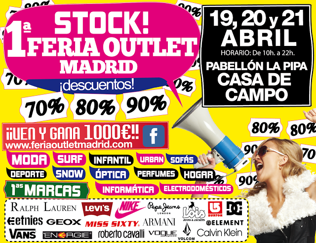Mercadillos feria outlet stock madrid - Feria outlet madrid 2017 ...