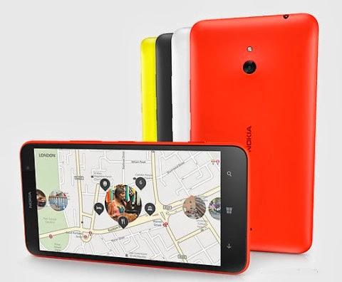 Il phablet di fascia media Lumia 1320 di Nokia sarà disponibile in arancione, giallo, bianco e nero