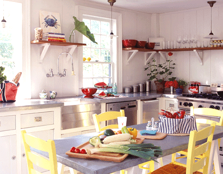 colorful coastal kitchen