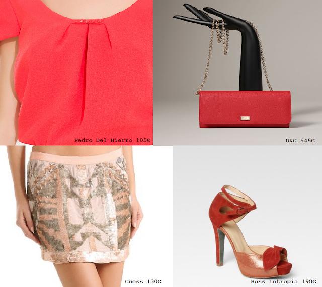 Look rojo y joya caro