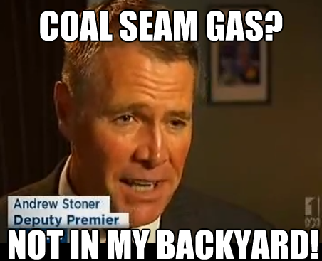 Oxley MP, Andrew Stoner tells the truth about csg mining but then..