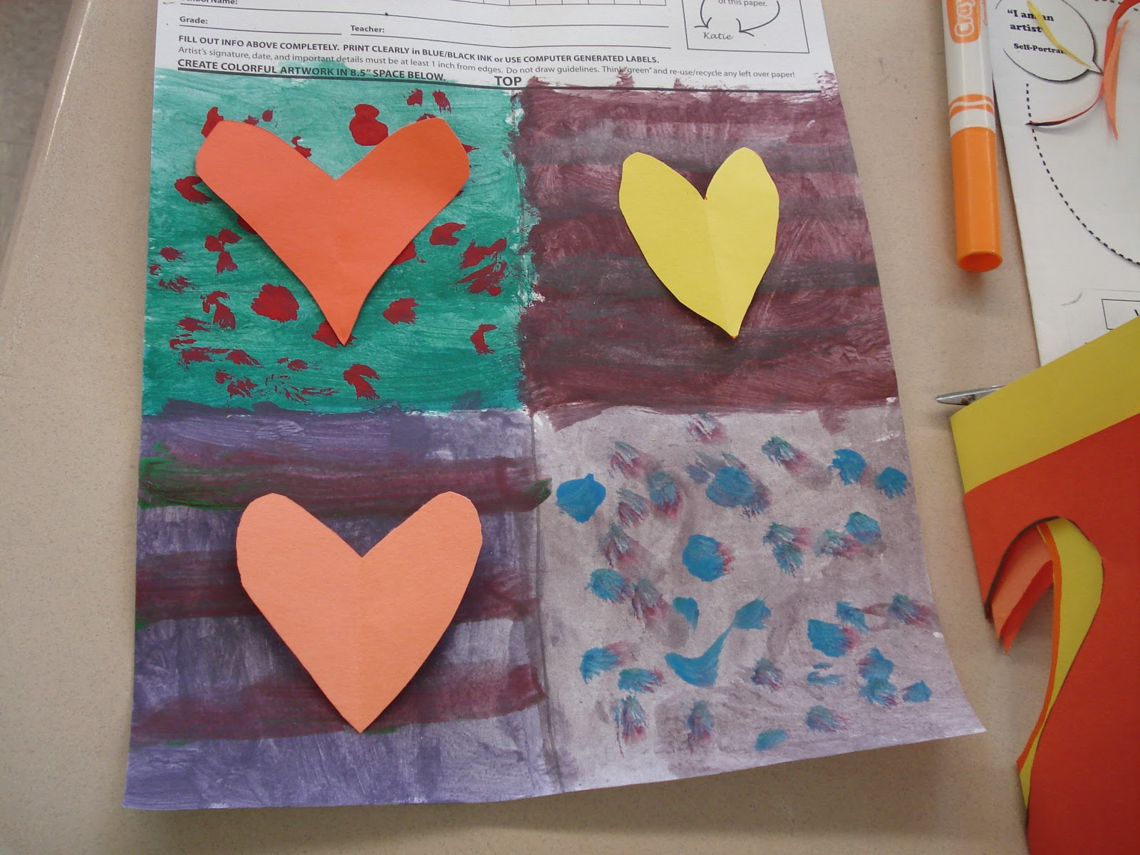 Op art uses color to create - 4th Grade Students Learned About Op Art When Creating This Optical Illusions Of Hearts I Was Inspired By A Lesson I Saw On Mrs Knight S Smartest Artists