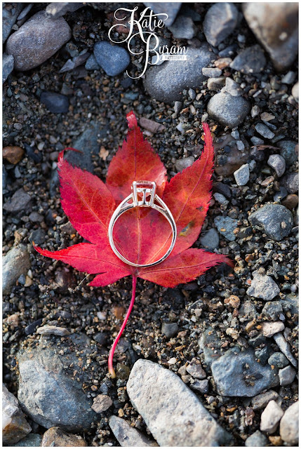 engagement ring on a leaf, autumn engagement shoot, lake district engagement shoot, lake district pre-wedding shoot,  same sex couple, lesbian engagement shoot, she said yes, katie byram photography