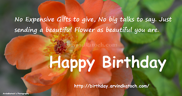 Sparkling, Blooming, Happy, Birthday, True Picture, Card